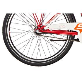 s'cool chiX 24 3-S - Vélo enfant - steel rouge